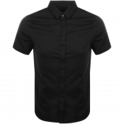 Armani Exchange Short Sleeved Slim Fit Shirt Black
